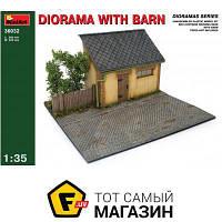 Модель 1:35 - Miniart - Diorama with barn (MA36032) пластмасса