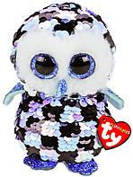 Мягкая игрушка TY Flippables Сова Топпер голубая 15 см 36348, КОД: 2428313