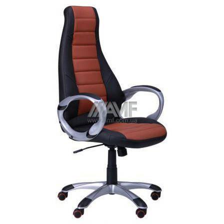Кресло руководителя Форс (коричневая вставка) (с доставкой), фото 2