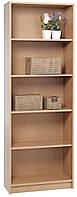 Шкаф для книг, этажерка деревянная 5 полок, бук