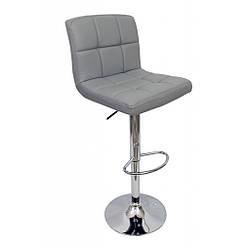 Барный стул со спинкой Bonro 628 серый