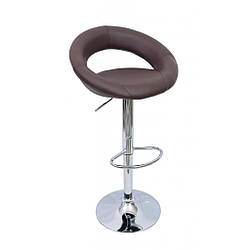 Барный стул со спинкой Bonro 650 коричневый