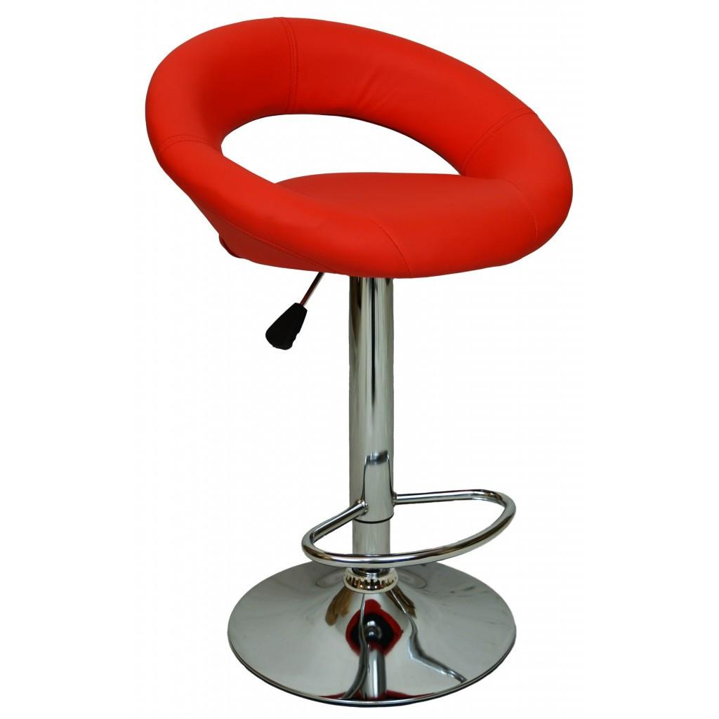 Барний стілець хокер Bonro B-650 червоний