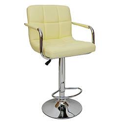 Барный стул со спинкой Bonro B-628-1 бежевый