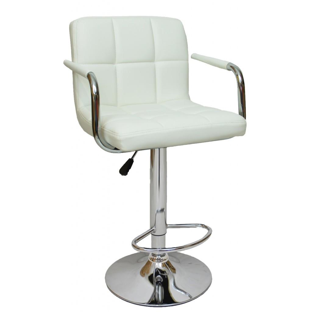 Барний стілець хокер Bonro B-628-1 білий