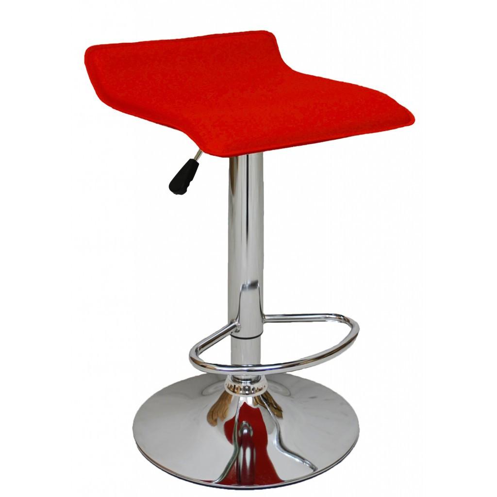 Барний стілець хокер Bonro B-688 червоний