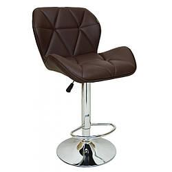 Барный стул со спинкой Bonro B-868M коричневый