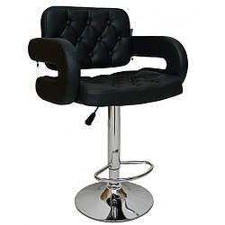 Барный стул со спинкой Bonro B-823A черный