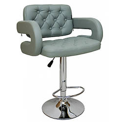 Барный стул со спинкой Bonro B-823A серый