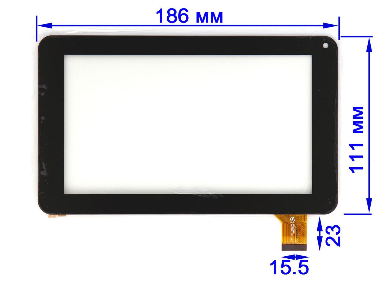Тачскрин Reellex TAB-07E-01 Touch screen Pixus Play One, GoClever R70, Uni Pad CM-OSP02B-13QC