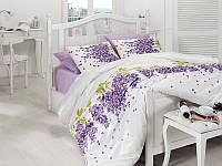 Комплект постельный подарочный евро сатин Глициния