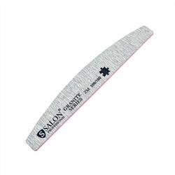 Пилка для ногтей Salon  GRANITE 100/180 , полукруг, серая