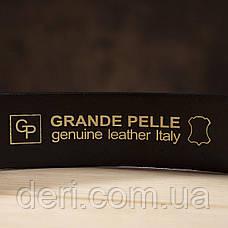 Ремень мужской GRANDE PELLE 11028 под джинсы Коричневый, Коричневый, фото 3
