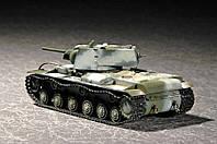 """Сборная модель танка КВ-1 мод.1941 """"маленькая башня"""" 1/72"""