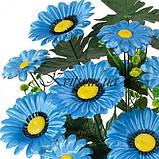 Искусственные цветы букет ромашки Лоск, 50см, фото 2