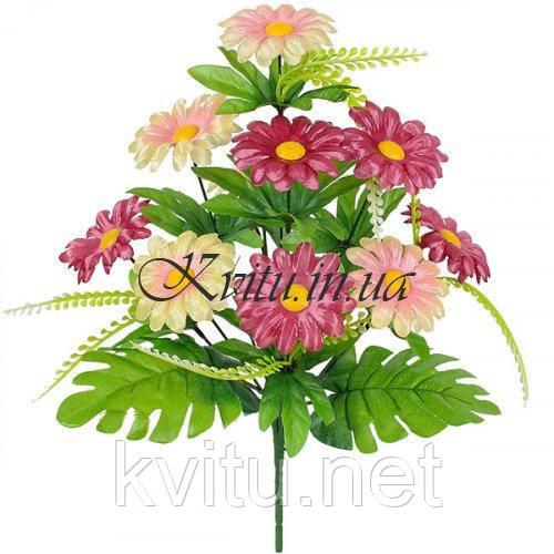Искусственные цветы букет герберки, 38см