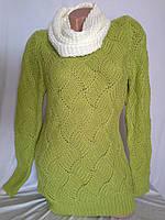 Женский свитер туника с ажурной спинкой в Одессе