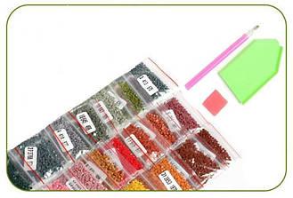 Алмазная вышивка мозаика Diy Кот Британец 2  30х30см 30цветов полная зашивка квадратные стразы. Набор алмазной