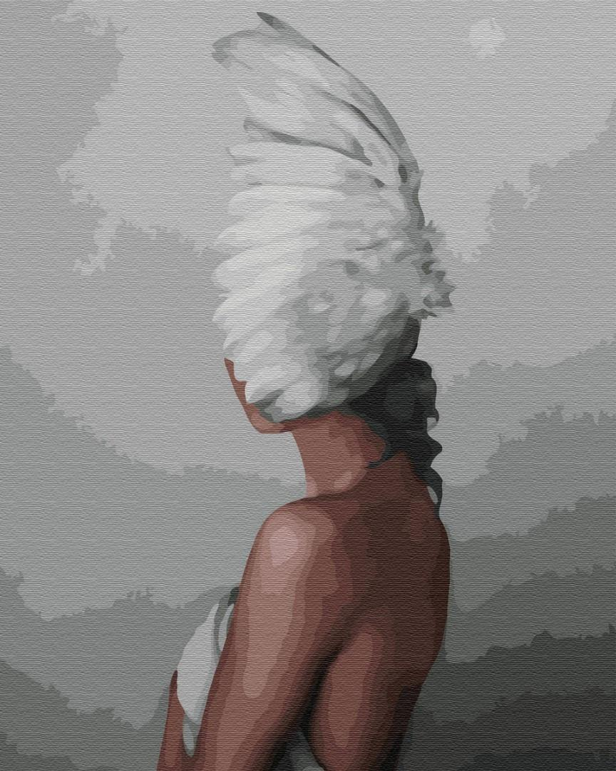Картина рисование по номерам Brushme Таинственная душа PGX35264 40х50см набор для росписи, краски, кисти холст