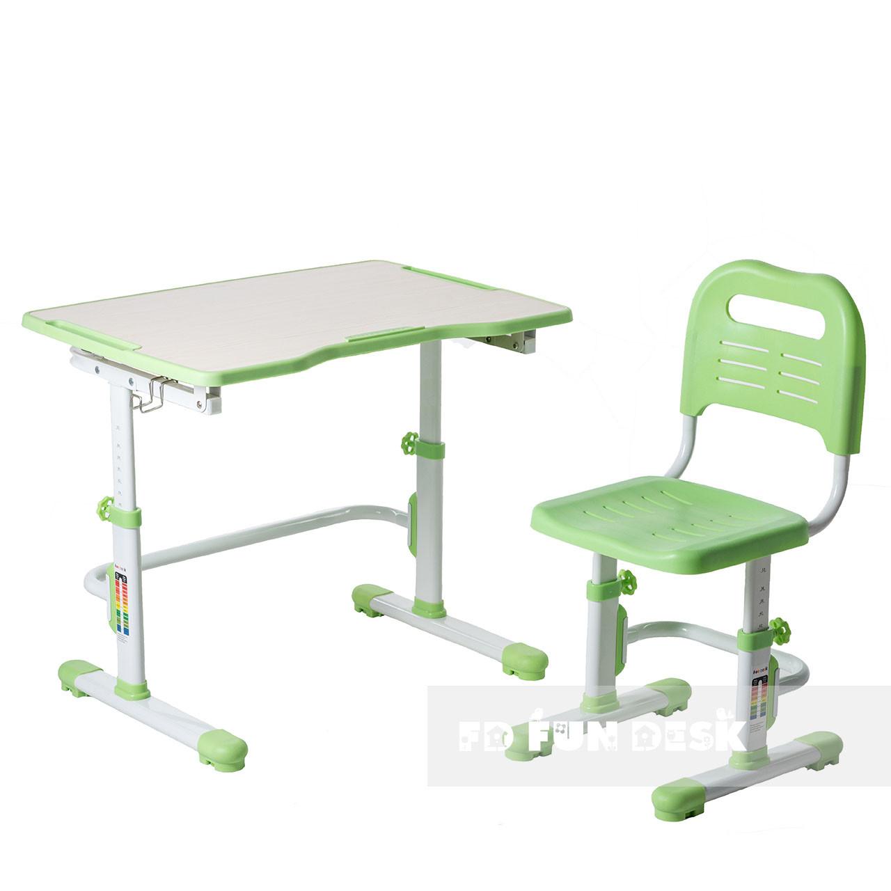 Комплект парта + стілець трансформери Vivo II Green FUNDESK