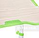 Комплект парта + стілець трансформери Vivo II Green FUNDESK, фото 2