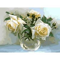 Картина рисование по номерам Babylon Чайные розы 30х40см VK017 набор для росписи, краски, кисти, холст