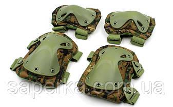 Защита тактическая Xtak, комплект (наколенники, налокотники). Цвет MARPAT, фото 2