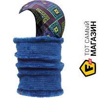 Бафф с капюшоном Buff Neckwarmer & Headliner, kadsu/twilight blue (108123.00)