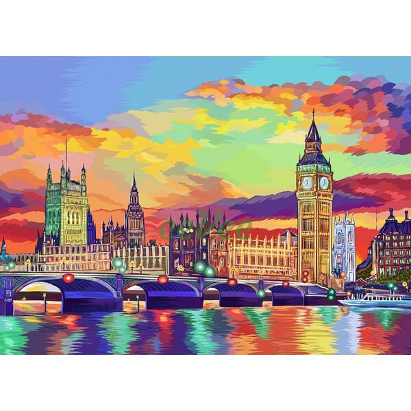 Картина рисование по номерам Лондон 08U Danko Toys 40х50см в коробці, расскраска по номерам города набор для