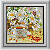 Алмазная мозаика Полуденный чай Dream Art 30277 29x29см 25 цветов, квадр.стразы, полная зашивка. Набор
