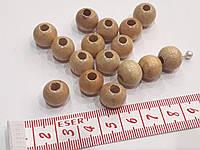 Бусины  деревянные лакированные.  Намистини  дерев'яні 13 мм  Натуральні лаковані 10 шт/уп.