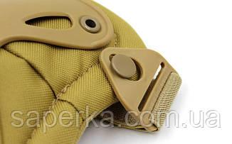 Защита тактическая Xtak, комплект (наколенники, налокотники). Цвет кайот, фото 2