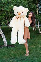 Большой медведь тедди 160 см кремовый
