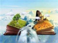 Алмазная вышивка мозаика Diy Водопад знаний 23х33см 23цвета полная зашивка круглые стразы