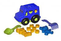 """Сортер-автобус """"Бусик"""" №2 (синий), Colorplast, песочные наборы,наборы в песочницу,игрушки в песочницу,игрушки"""