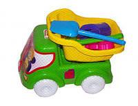 Машинка самосвал № 3 (желтый), Бамсик, песочные наборы,наборы в песочницу,игрушки в песочницу,игрушки для