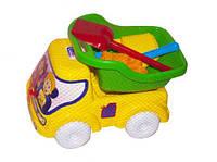 Машинка самосвал № 3 (зеленый), Бамсик, песочные наборы,наборы в песочницу,игрушки в песочницу,игрушки для