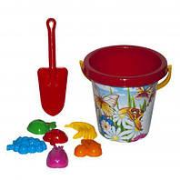 Песочный набор (красный), Технок, песочные наборы,наборы в песочницу,игрушки в песочницу,игрушки для песка