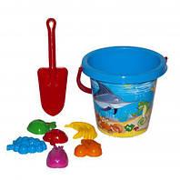 Песочный набор (синий), Технок, песочные наборы,наборы в песочницу,игрушки в песочницу,игрушки для песка