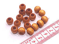 Бусины  деревянные лакированные.  Намистини  дерев'яні 10 мм Жовті лаковані 20 шт/уп.