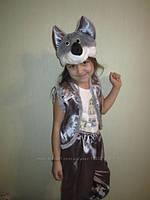"""Карнавальный костюм из атласа """"Волк"""", размер 4-7 лет"""