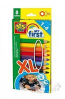 Игра SES Набор восковых карандашей My First Радуга 8 цветов (14416S)