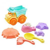 Песочный набор из мягкого пластика, с машинкой, песочные наборы,наборы в песочницу,игрушки в песочницу