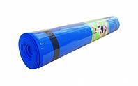 Йогамат EVA M 0380-1 ((Синий)), коврик для йоги,фитнес коврик,маты для йоги,фитнес