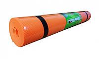 Йогамат EVA M 0380-1 ((Оранжевый)), коврик для йоги,фитнес коврик,маты для йоги,фитнес