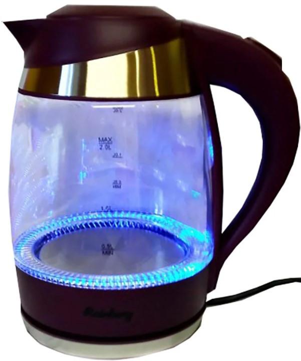 Электрический стеклянный чайник с подсветкой Rainberg RB-707 2 л 2200