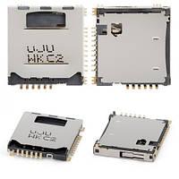 Коннектор разъем Sim сим флеш карты LG GM200, KP500