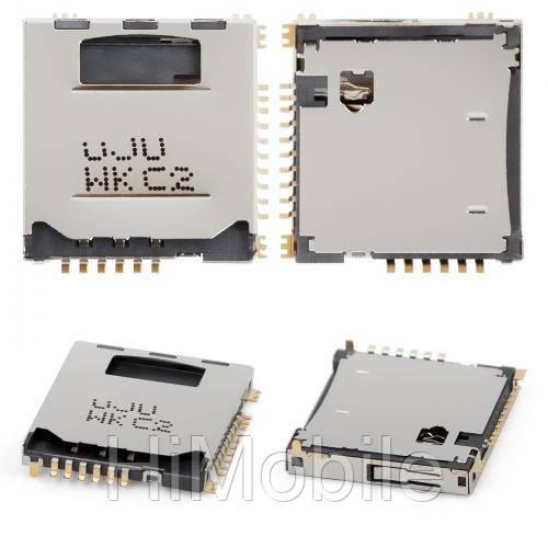 Коннектор разъем Sim сим флеш карты для Samsung  C3010, L170, i710, S3