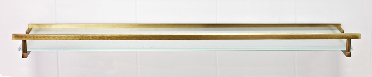 Поличка зі склом 60 см серія Viya бронза