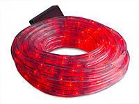 Светодиодная LED гирлянда прозрачный силиконовый шланг 10 м Дюралайт красная
